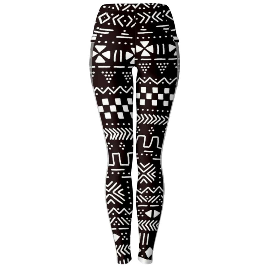 Tribal African muth cloth Mesh Packet legging - Women's