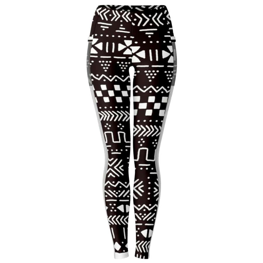 Tribal African muth cloth Mesh Packet legging - S - Women's