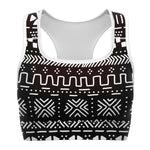 Tribal African muth cloth Sports Bras - S - Women's