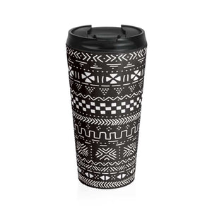 Tribal African Tribal Stainless Steel Travel Mug - Travel Mug - Mug