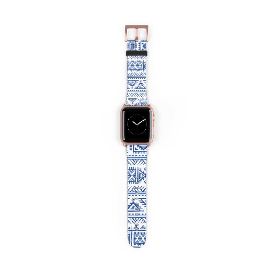 Tribal Blue African Mud cloth Watch Band - Accessories