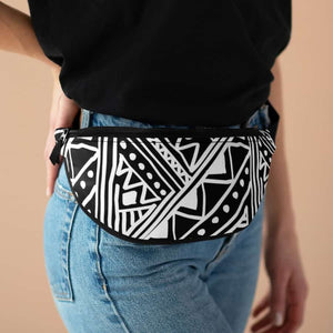White African Mud cloth Fanny Pack - One Size - Bags