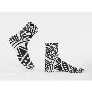 White African mud cloth Sublimation Socks - M - All Over Prints