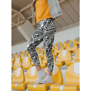 White African Mud Cloth women's Cut & Sew Casual Leggings - All Over Prints