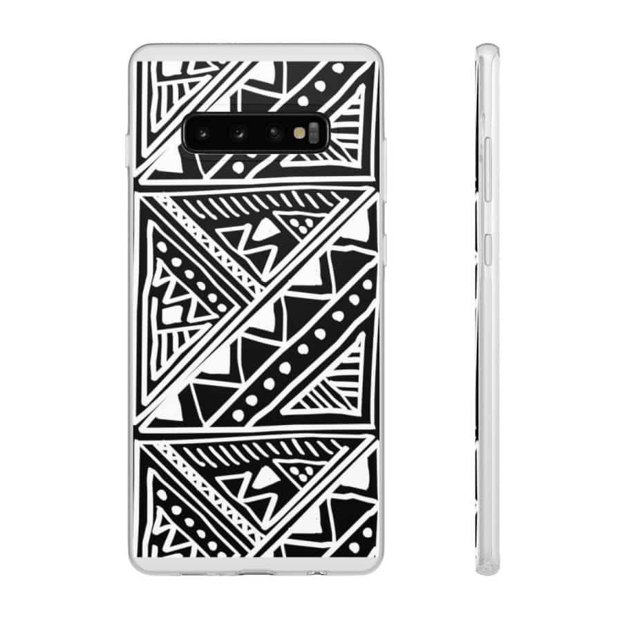 White African Tribal Mudcloth Flexi Phone cases - Samsung Galaxy S10 Plus - Phone Case