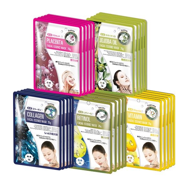 MITOMO Trial Set Anti-aging Care Face Mask Sheet: 5types*5pcs=25packs