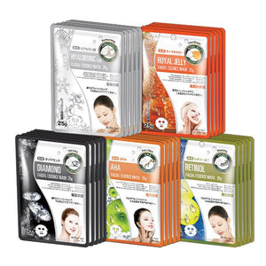 MITOMO Trial Set Pore-Tightening Care Face Mask Sheet: 5types*5pcs=25packs
