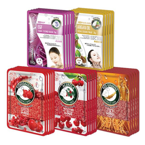 MITOMO Trial Set Skin-Repair Care Face Mask Sheet: 5types*5pcs=25packs