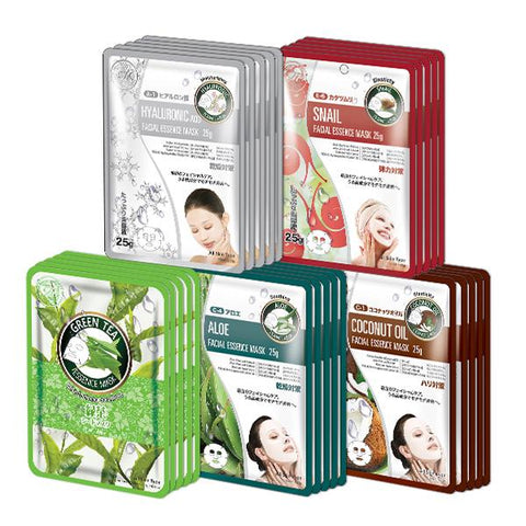 MITOMO Trial Set Anti-Inflammation Care Face Mask Sheet: 5types*5pcs=25packs