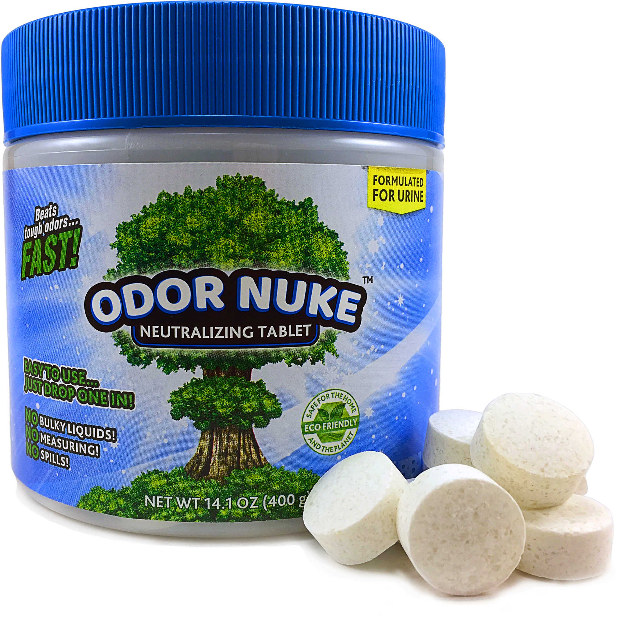 ODOR NUKE™ Tablets: Human Urine Odor Destroyer (14 1oz)
