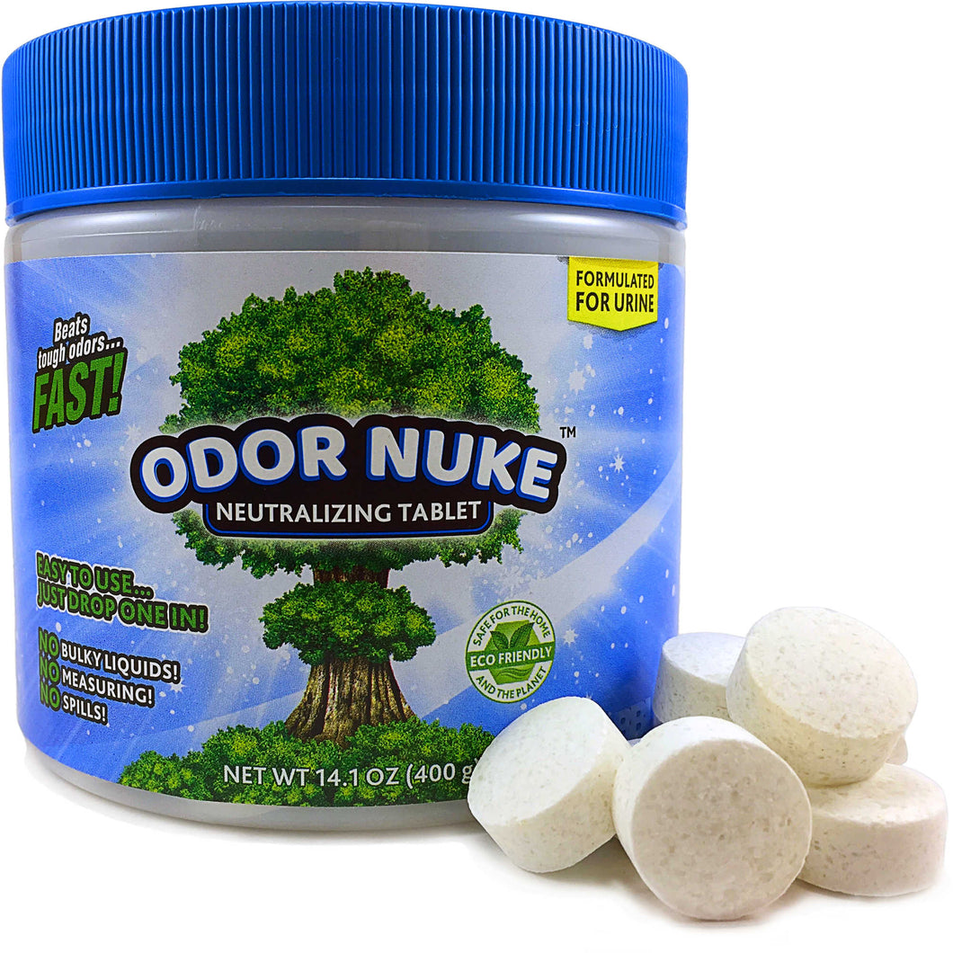 ODOR NUKE™ Tablets: Human Urine Odor Destroyer (14.1oz)