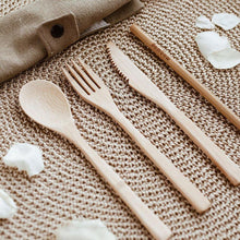 Afbeelding in Gallery-weergave laden, Bambaw Bamboo Cutlery Set