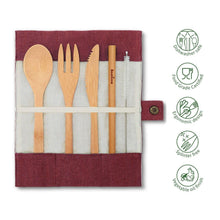 Afbeelding in Gallery-weergave laden, Bambaw Cutlery Set Practical Aspects Berry