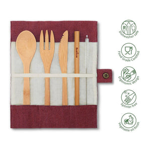 Bambaw Cutlery Set Practical Aspects Berry