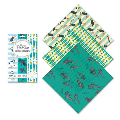 BeeBee Wrap Cheese Bees Wax Wrap Ocean Collection