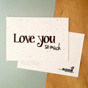 BloomYourMessage Bloeikaarten Love You So Much