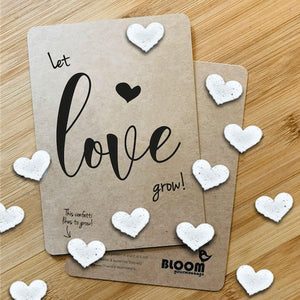 BloomYourMessage Groeiconfetti Kaart Let Love Grow