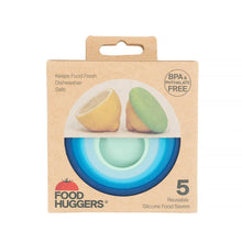 Afbeelding in Gallery-weergave laden, Food Hugger Set of 5 Ice Blue with Packaging