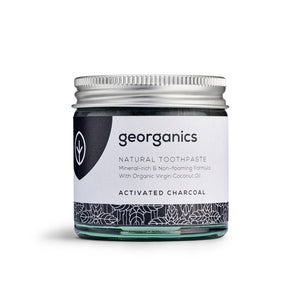 Georganics plastic free toothpaste Activated Charcoal