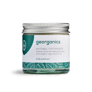 Georganics plastic free toothpaste spearming