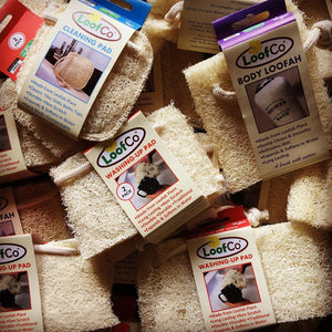 LoofCo Natural Loofah Sponges