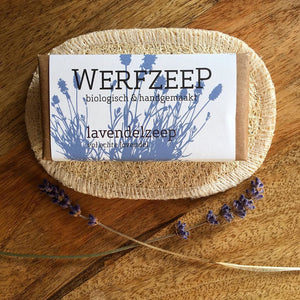 Redecker Loofah Soap Holder with Werfzeep Natural Soap