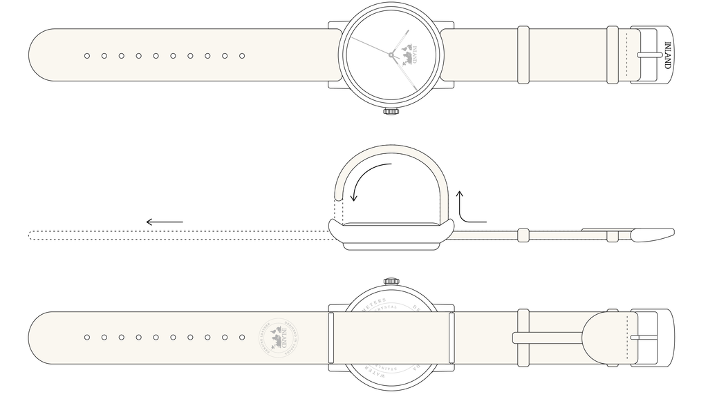 Maison Inland_watch put belt strap