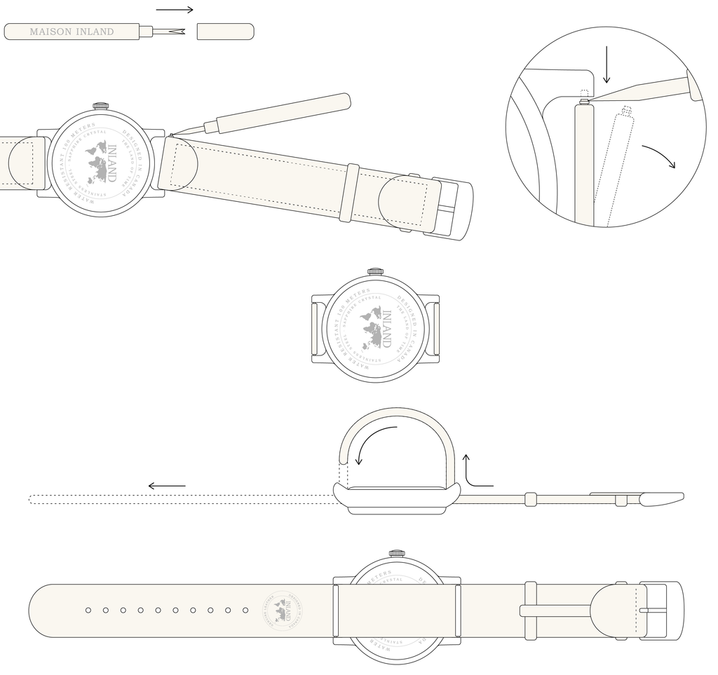Maison Inland_watch classic strap change for belt