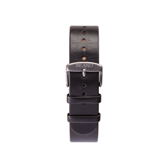 BELT 20 MM - BLACK LEATHER - maison-inland