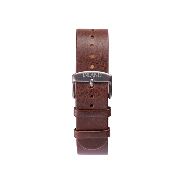 Buy watches online / Watch BELT 20 MM - BROWN LEATHER - maison-inland - durable wathce sonline classy elegant easygoing desing