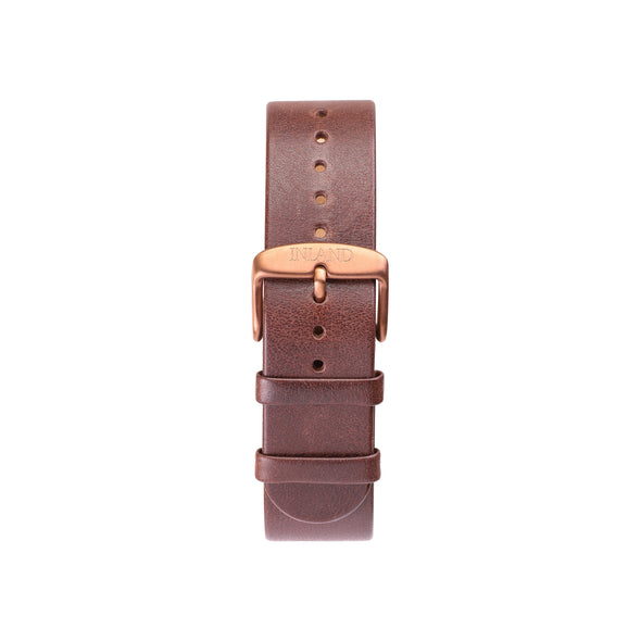 BELT 20 MM - BROWN LEATHER - maison-inland