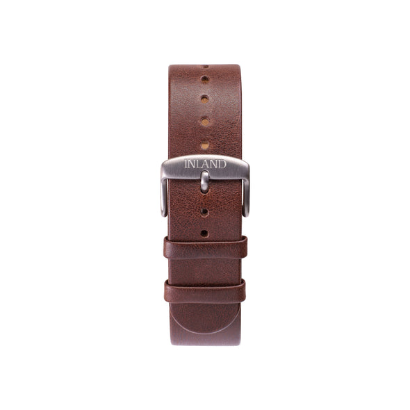 Buy wristwatch online / Watch BELT 20 MM - BROWN LEATHER - maison-inland - resistant watches ship everywhere