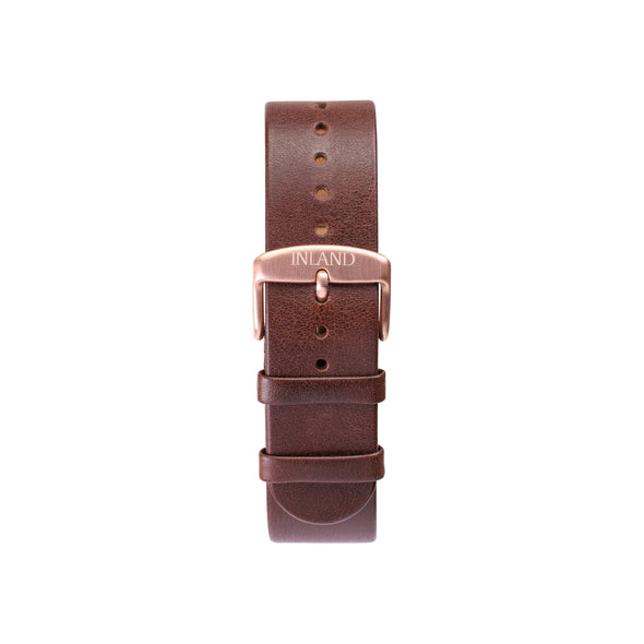 Buy watches online - Wristwatch BELT 20 MM - BROWN LEATHER - maison-inland - watches en ligne