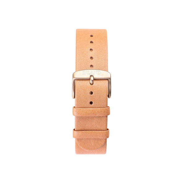 Buy design watches online / Watch BELT 20 MM - NATURAL LEATHER - maison-inland - designed classy retro vintage classy elegant luxury watches online