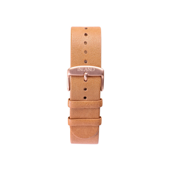 Buy watches online / Watch BELT 20 MM - NATURAL COLOUR ITALIAN LEATHER - maison-inland - water resistant elegant watches