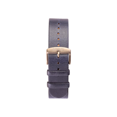 Buy design watches online / Watch BELT 20 MM - NAVY COLOUR ITALIAN LEATHER- Copper buckle - maison-inland - best watches elegant resistant retro wristwatches online