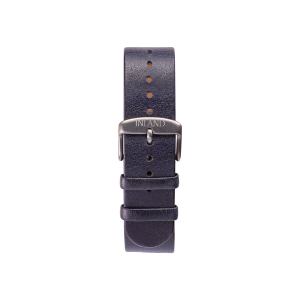 Buy design watches online / Watch BELT 20 MM - ITALIAN LEATHER NAVY COLOUR- maison-inland - gorgeous design  resistance waterproof watch quality online shipping worldwide