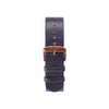 Buy design watches online / Watch BELT 20 MM - NAVY COLOUR ITALIAN LEATHER - maison-inland - perfectly designed elegant resistant sportive business watches online.