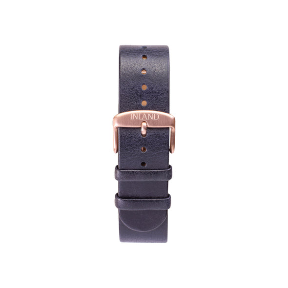 BELT 20 MM - NAVY LEATHER - maison-inland