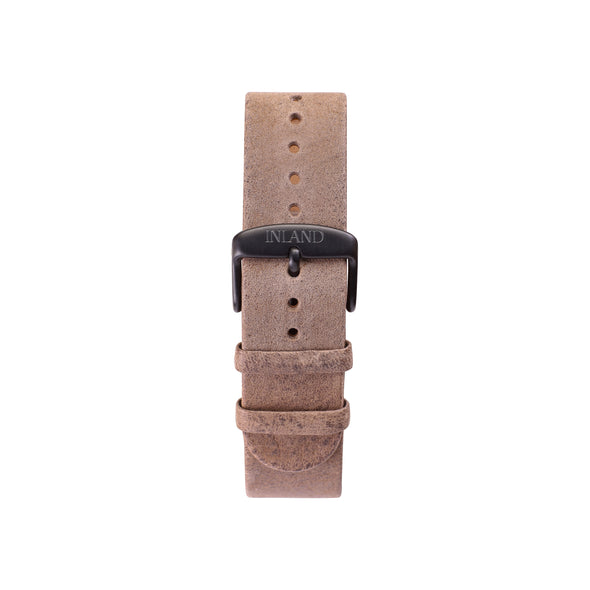 Buy elegant watches online shipping worldwide / Watch BELT 20 MM - RUSTIC HIGH QUALITY GREY LEATHER BLACK BUCKLE- maison-inland - great design shop watches online elegant vintage classy
