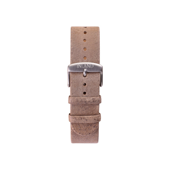 Buy watches online shipping worldwide / Watch BELT 20 MM - RUSTIC RETRO GREY LEATHER - maison-inland - retro design watches classy elegant online