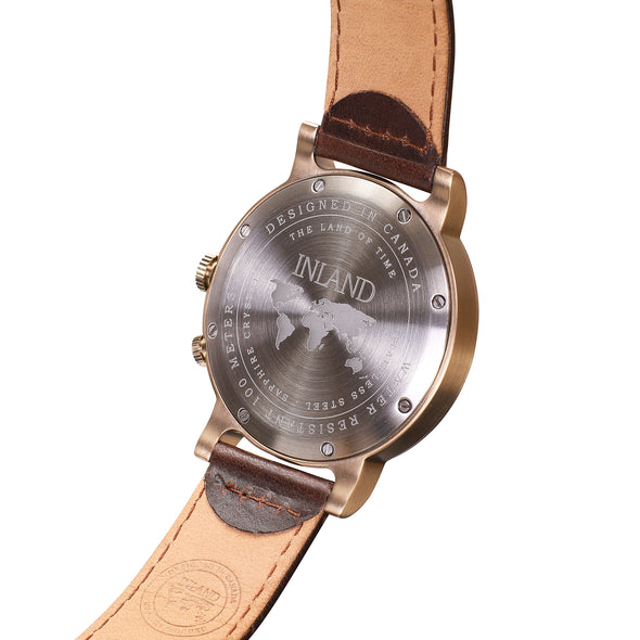 Buy distinguished watches online shipping worldwide / Watch THE AUGUST - ANTIQUE GOLD / CREAM - maison-inland - top quality watches store online