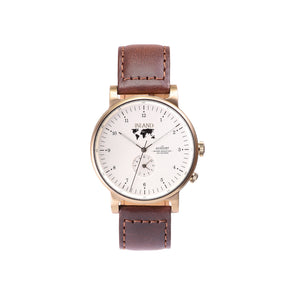 Buy elegant watches online shipping worldwide / Watch THE AUGUST - ANTIQUE GOLD / CREAM - maison-inland - top quality watches store online