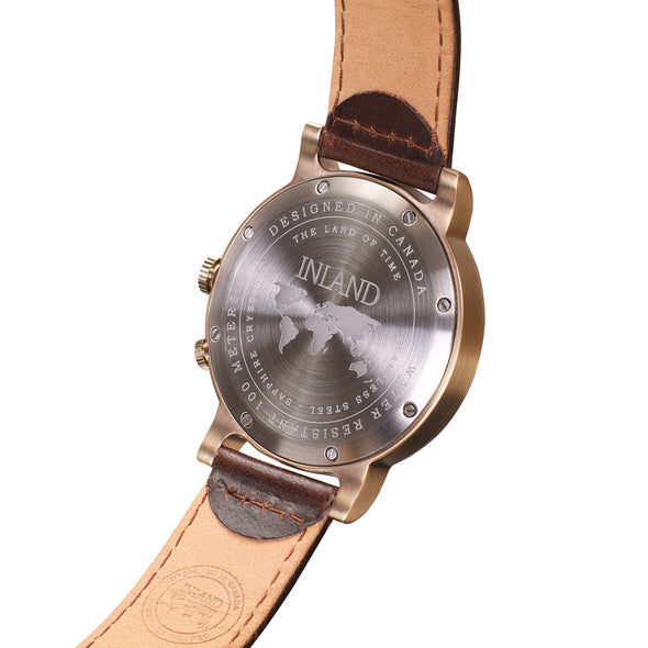 Buy beautiful classy watches online shipping worldwide / Watch THE AUGUST - ANTIQUE GOLD / GREY - maison-inland - best watch shop online quality durable wristwatches