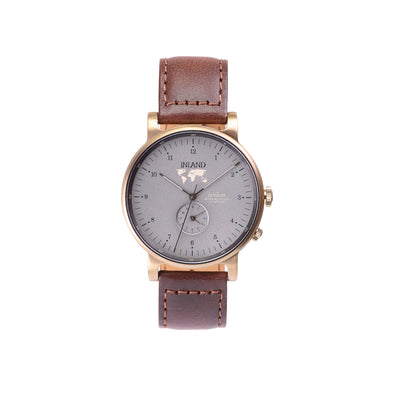 Buy elegant watches online shipping worldwide / Watch THE AUGUST - ANTIQUE GOLD / GREY - maison-inland - best watch shop online quality durable wristwatches
