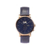 Buy gorgeous design watches online shipping worldwide / Watch THE AUGUST - ANTIQUE GOLD / NAVY - maison-inland - best designed watch shop online quality durable wristwatches / made in Canada