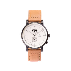 Buy everlasting design watches online shipping worldwide / Watch  BLACK / CREAM - maison-inland - / goes with all - best designed watch shop online quality durable wristwatches / made in Canada