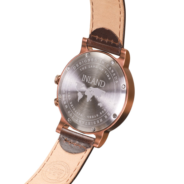 Buy fashionable watches online shipping worldwide / Watch THE AUGUST - COPPER / SAND - maison-inland / goes with all - best designed watch shop online quality classical elegant durable wristwatches / made in Canada