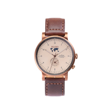 Buy harmonious design watches online shipping worldwide / Watch THE AUGUST - COPPER / SAND - maison-inland / goes with all - best designed watch shop online quality classical elegant durable wristwatches / made in Canada