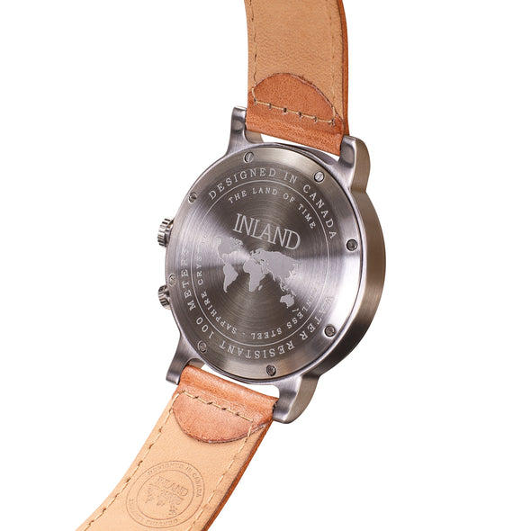 Buy casual design watches online shipping worldwide / Watch THE AUGUST - GREY / GREY BACK STAINLESS STEEL- maison-inland  goes with all - best designed watch shop online quality classical elegant stylish resistant wristwatches / made in Canada